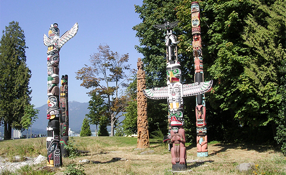 Selection of totem poles/