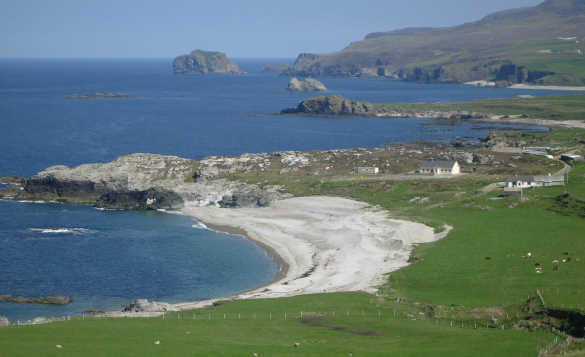 The coastline of Malin Head, Donegal in Ireland/