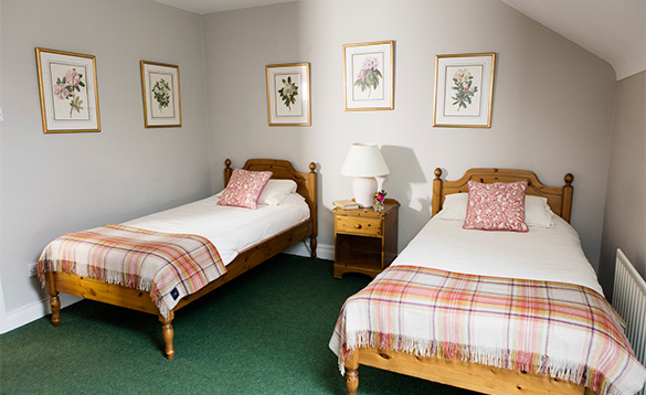 Twin bedroom in the Courtyard Apartments at Belle Isle/
