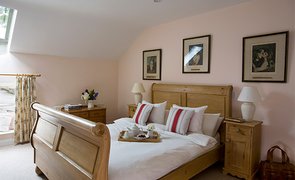 Double bedroom in the coach house at Belle Isle/