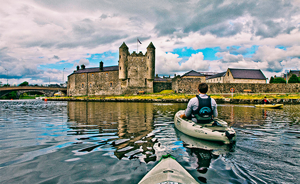 People in canoes on Lough Erne/