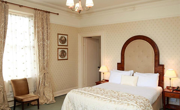 Double bedroom at the Londonderry Arms Hotel, Co Antrim/