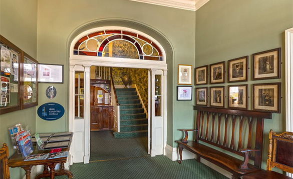 Entrance to the Londonderry Arms Hotel, Co Antrim/