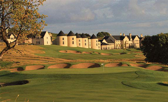 Looking down the fairway to the Lough Erne Golf Resort Hotel/