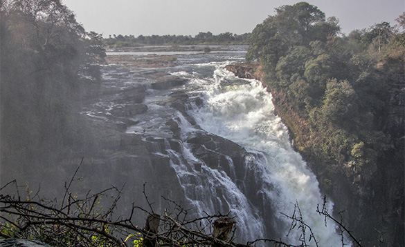 Zambia waterfall /