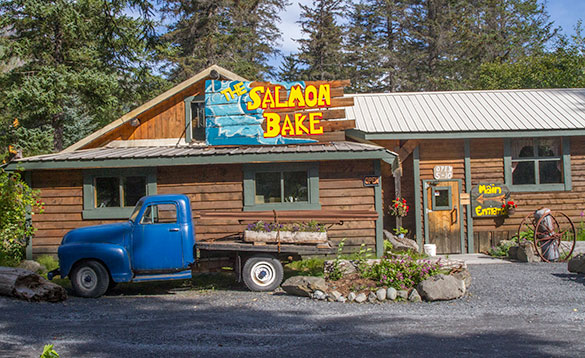 Interesting dining near Exit Glacier/