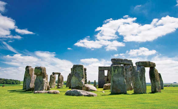 The large stones of Stonehenge in Wiltshire/