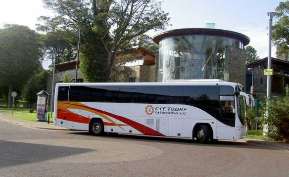 CIE Tours International white coach /