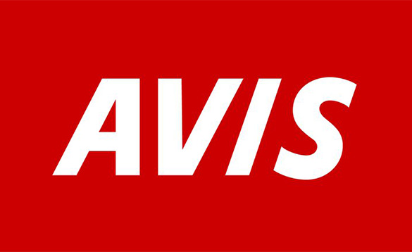 Avis logo with a red square and the letters 'AVIS' in white/