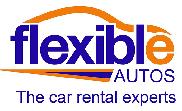 Flexible Autos logo with blue lettering /