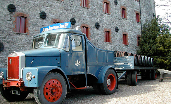 Old lorry and trailer parked in Jameson Distillery, Midleton, Co Cork/