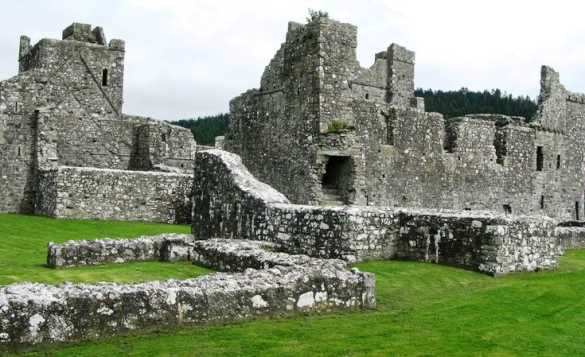The stone ruins of Fore Abbey in County Westmeath, Ireland/