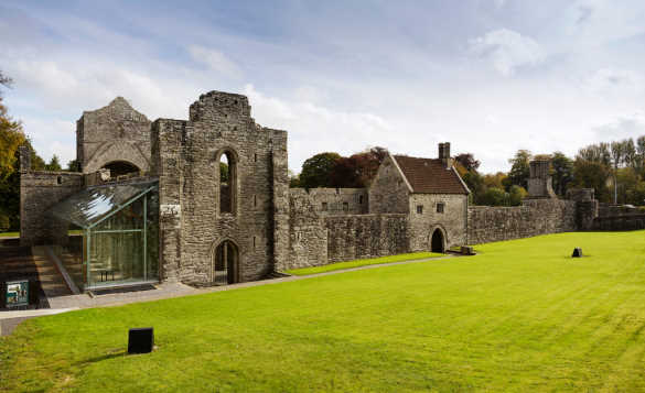 View of the ruins of Boyle Abbey, Co Roscommon/