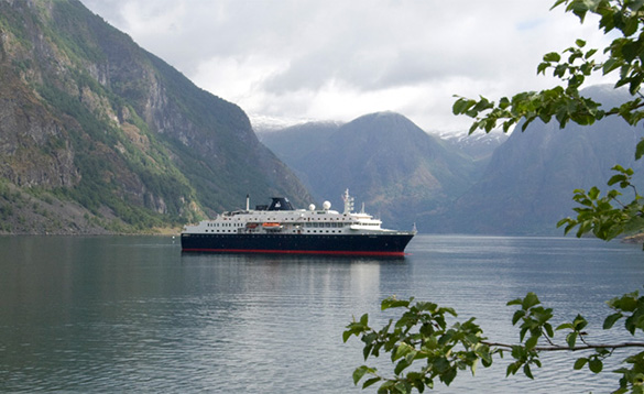 Minerva in fjords/