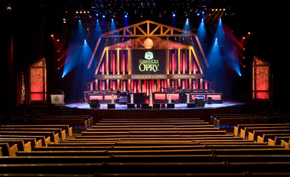 View of the inside of the Grand Ole Opry in Nashville/