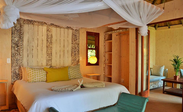 Bedroom at Chobe Bakwena Lodge in Botswana/
