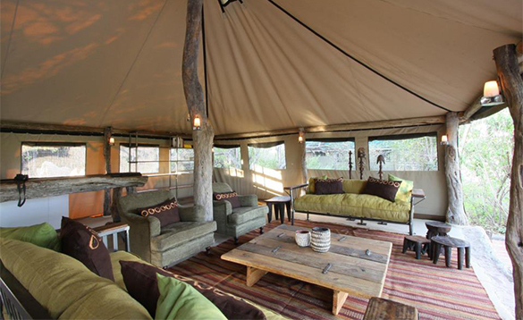 Lounge at Sango Safari Camp/
