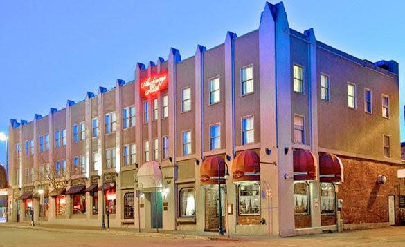 Historic Hotel Anchorage summers evening/