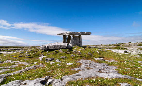 Stone monument in the Burren, Co Clare/