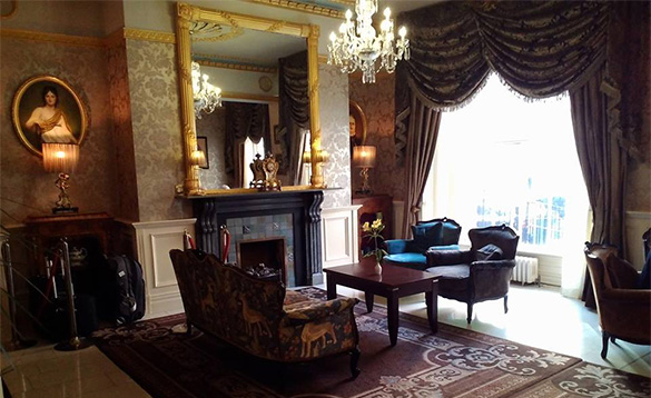 Elegant lounge at the Buswells Hotel in Dublin/