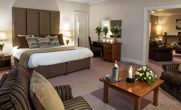 Luxurious suite at the Castlerosse Hotel in Killarney /