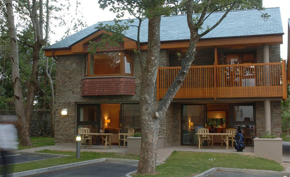 Two storey self-catering stone cottages at the Castlerosse Hotel in Killarney /