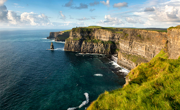 View of the Cliffs of Moher in Ireland/