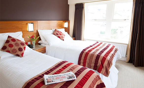 Twin bedroom at the Clew Bay Hotel, Westport/