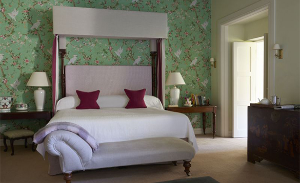 Guest bedroom with double bed at Gregan's Castle Hotel/