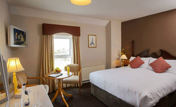 Double bedroom at the Hylands Burren Hotel in Ballyvaughan, Co Clare/