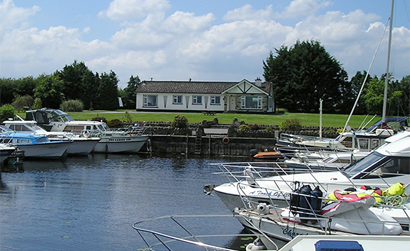 Boats in a marina on Lough Ree, Ireland/