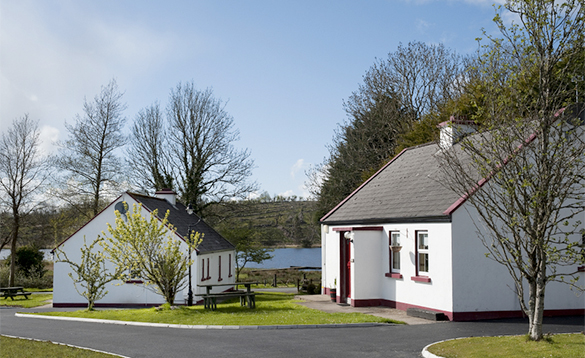 Two white cottages with views over a lake - McGuires Cottages, Drumshanbo/