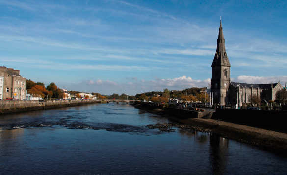 River flowing through Ballina, Co Mayo/