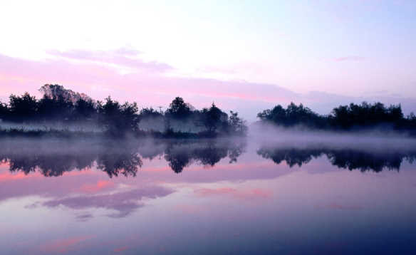 Early morning mist over Lough Erne, Co Fermanagh/
