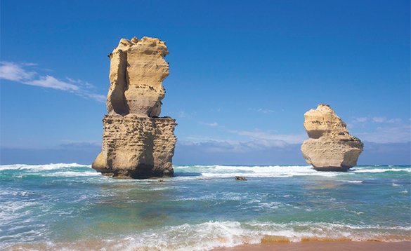 Rock formations of the coast of Australia/