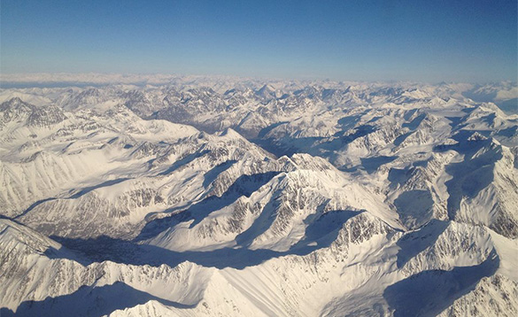Chugach Mountain range near Anchorage/