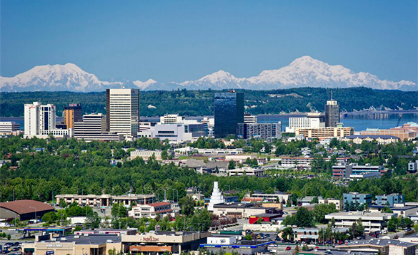 Views of downtown Anchorage/