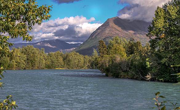 Kenai River Valley Seward to Soldotna Drive/