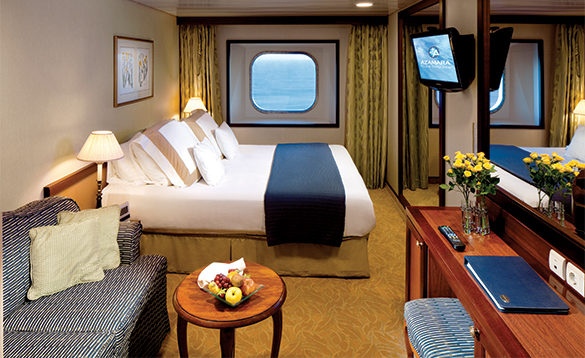 Oceanview Staeroom on Azamara Club cruise ship/