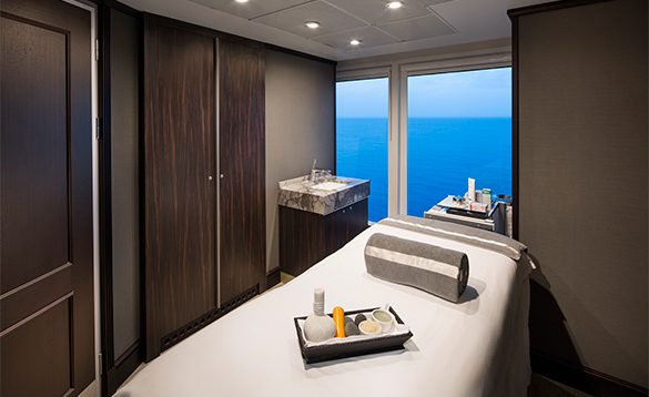 Spa treatment room on an Azamara Club cruise ship/