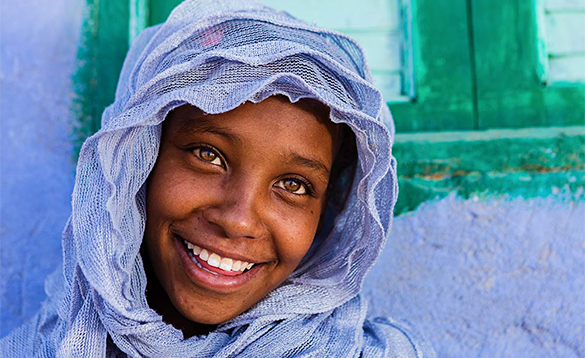 Smiling woman in Ethiopia/