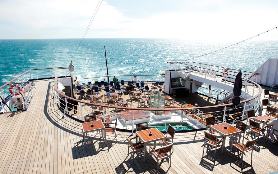 The sun terrace on the Cruise and Maritime ship Astor/