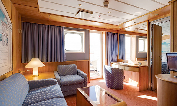 Deluxe balcony suite on the Cruise and Maritime ship Astoria/