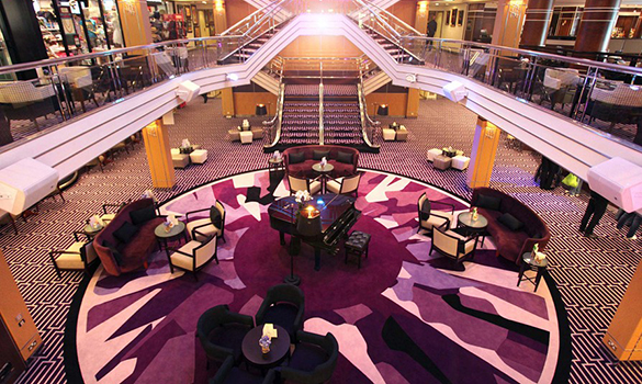 The atrium on the Cruise and Maritime ship Columbus/