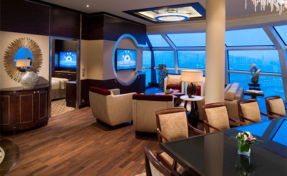 Lounge on a cruise ship/