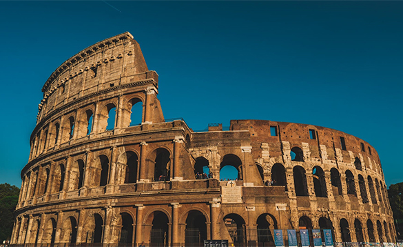 The colosseum in Rome/