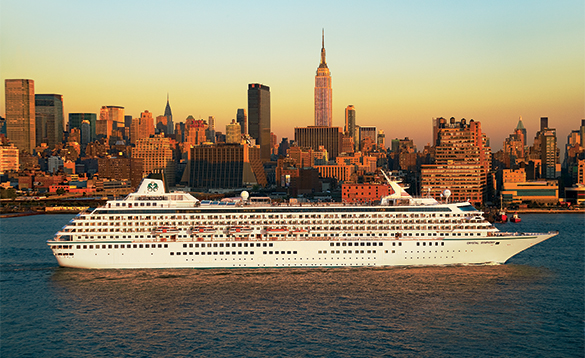 Crystal Symphony cruise ship in New York City/