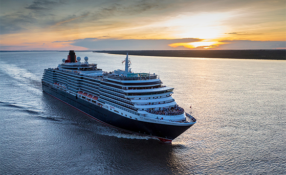 Cunard's Queen Victoria at sea/