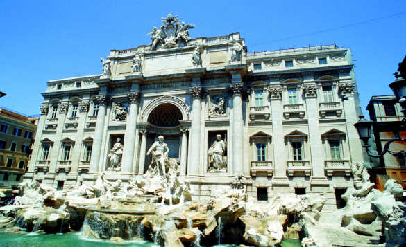 The Trevi Fountain in Rome/