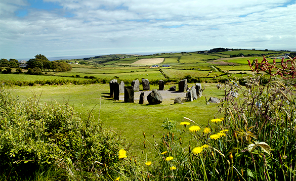 Stone ring in the countryside in Co Cork, Ireland/